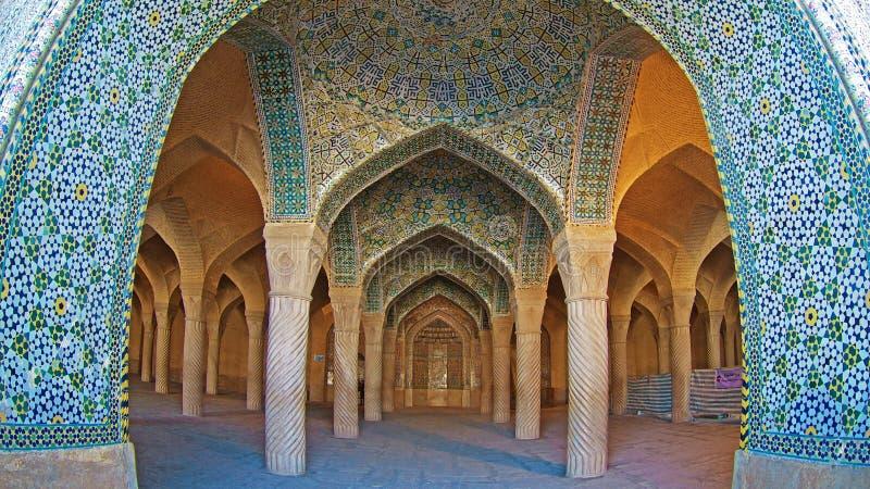 Meczet w Sziraz w Iranie obrazy royalty free
