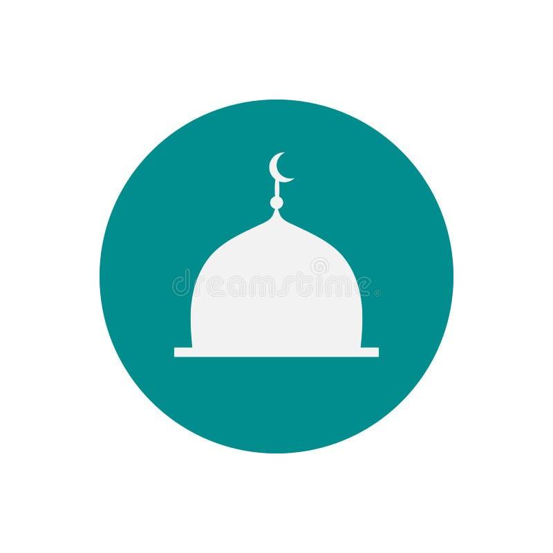 Meczetowa kopuła Płaska ikona na błękitnym tle również zwrócić corel ilustracji wektora ilustracji