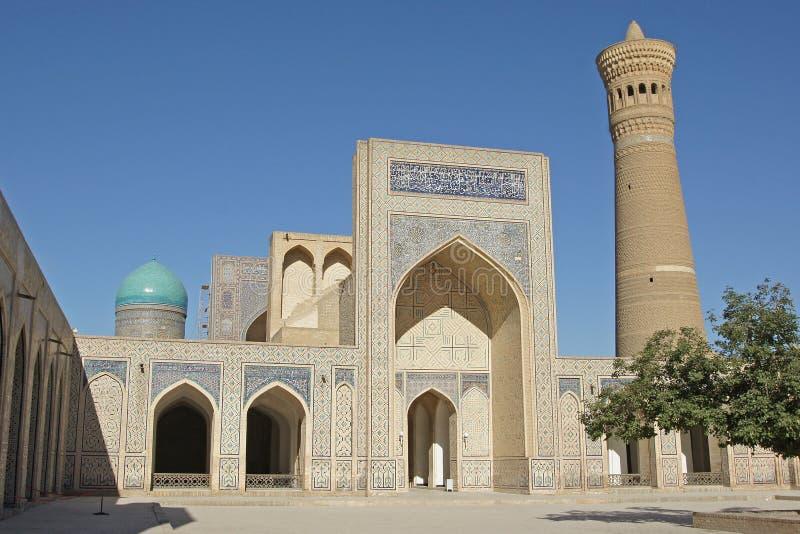 Meczetowy Kalon, Bukhara, Uzbekistan zdjęcia royalty free
