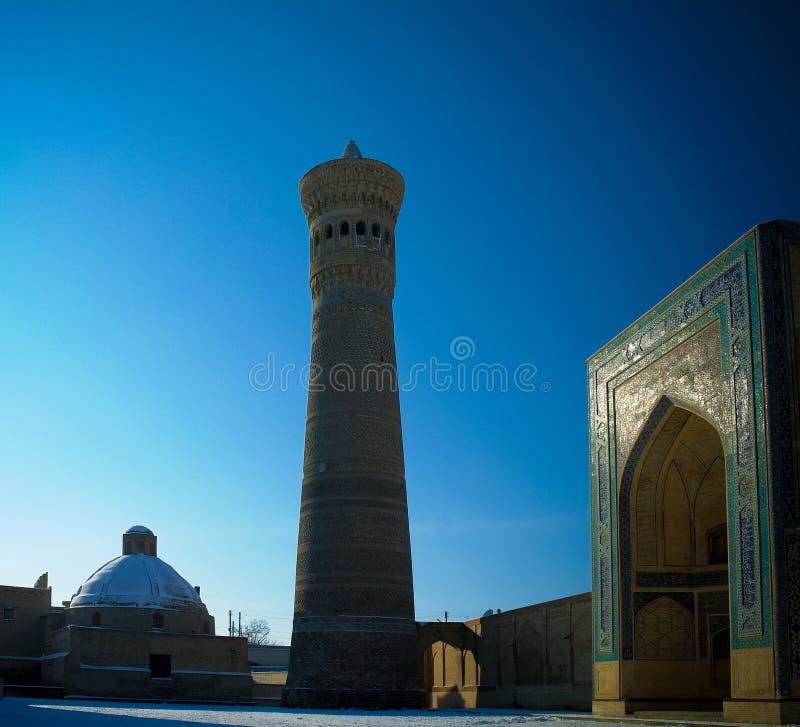 Meczetowy Kalyan minaret jako część po powikłany Bukhara, Uzbekistan obrazy stock