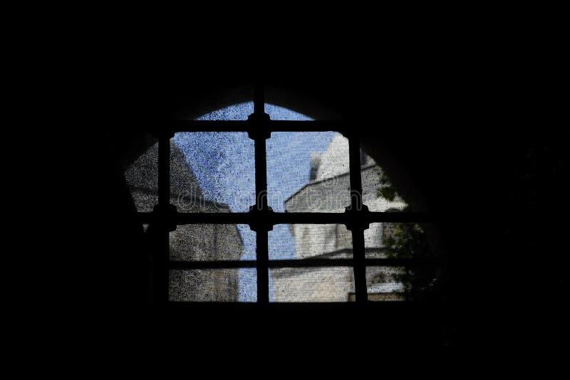 Meczetowy odgórny widok od okno i sieci za kratkami obraz royalty free