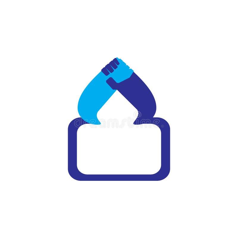 Meczetowy ręki drużyny pracy symbolu logo wektor royalty ilustracja