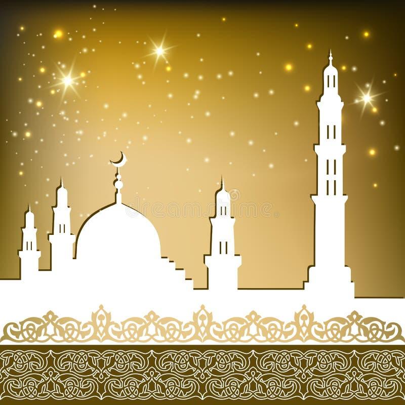 Meczetowy złoto ilustracji