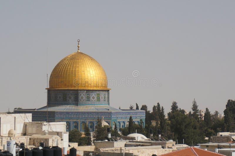 Meczety i kościół w Jerusalem zdjęcie royalty free