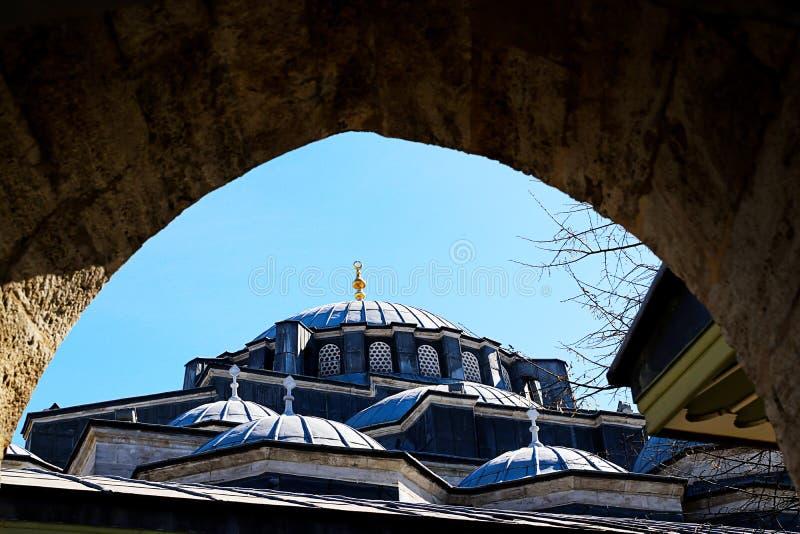 Meczety i niebieskie niebo obraz royalty free