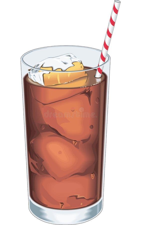 Med is drinkvektorillustration vektor illustrationer