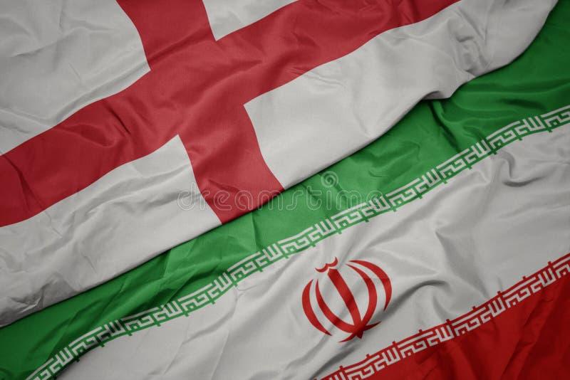 med färglös flagg från iransk och nationell flagg arkivbilder