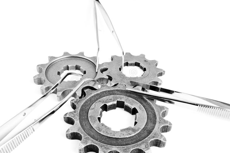 Med gears royalty free stock photography