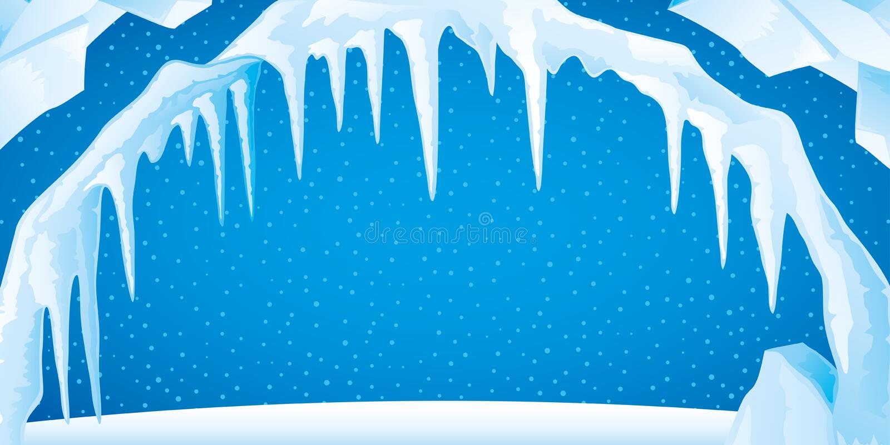 Is med istappar och sn? stock illustrationer