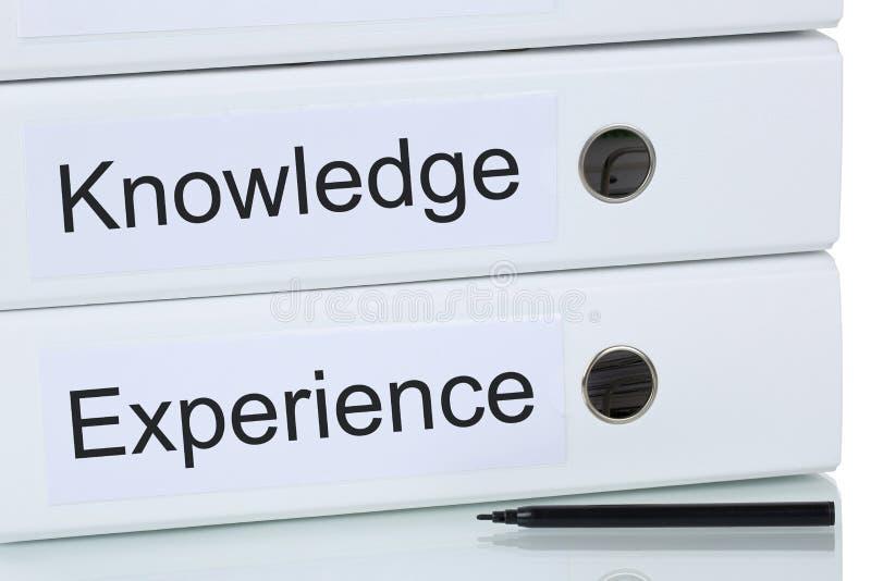 Med kunskap och erfarenhet till framgångaffärsidéen arkivfoto