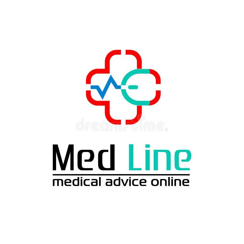 Med Line voor de kliniek of de online diensten royalty-vrije stock fotografie