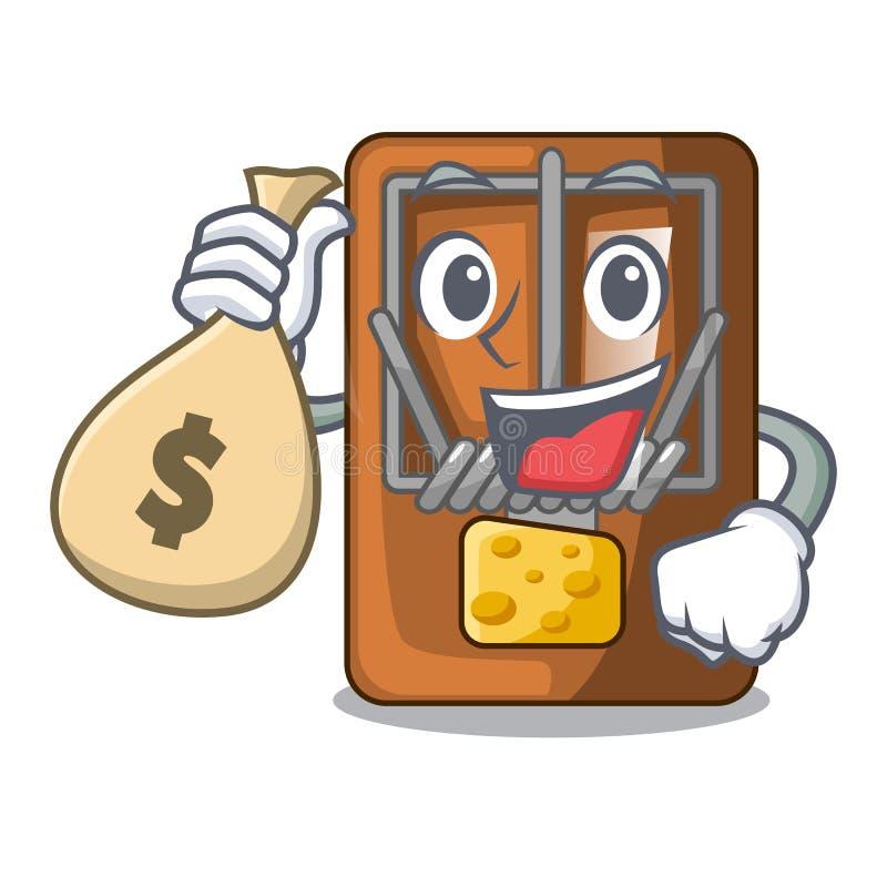 Med pengarpåseråttfällan i a-teckenformen royaltyfri illustrationer