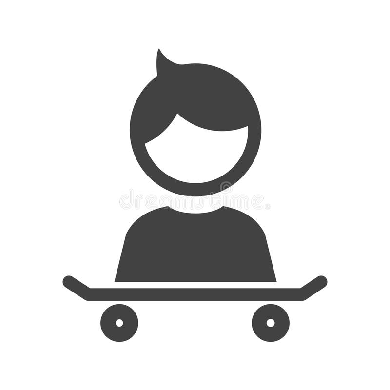 Med skateboarden vektor illustrationer