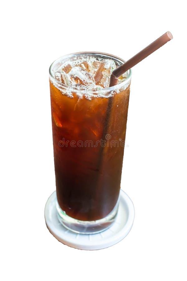 Med is svart kaffe arkivbild