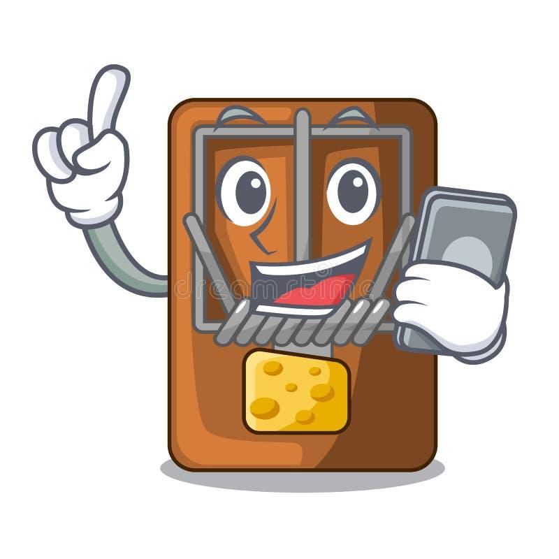 Med telefonråttfällan i a-teckenformen stock illustrationer