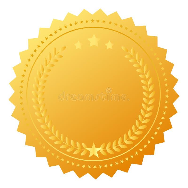 Medaglia in bianco del premio illustrazione vettoriale