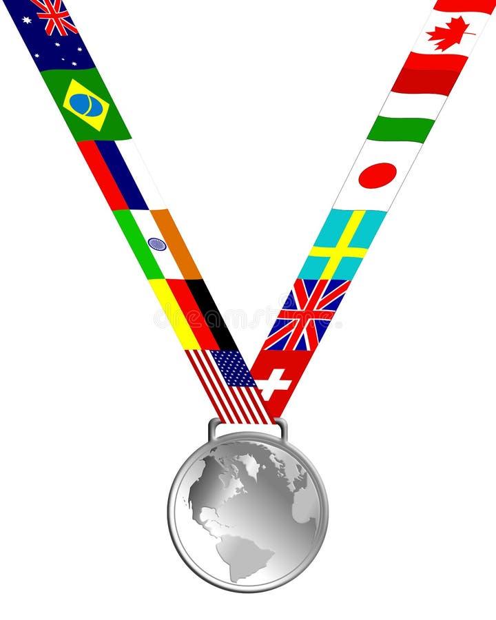 Medaglia d'argento illustrazione di stock