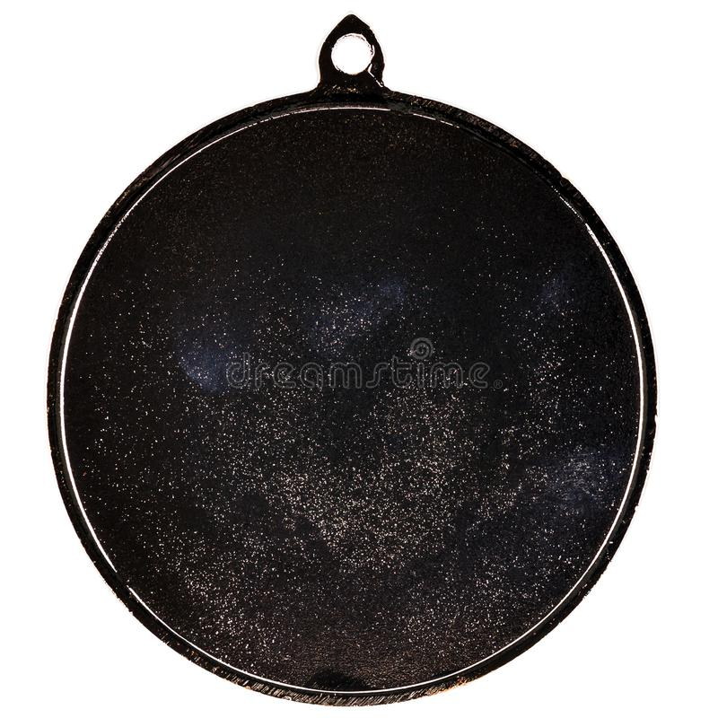 Medaglia d'argento in bianco fotografie stock
