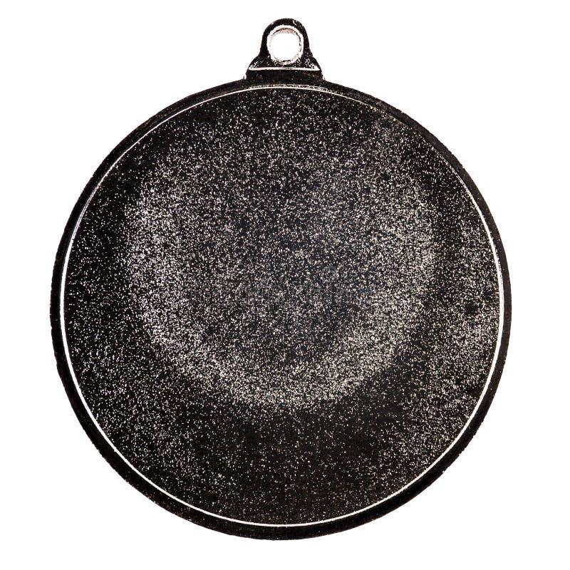 Medaglia d'argento in bianco fotografia stock