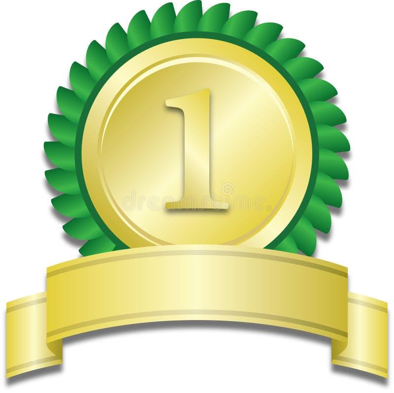 Medaglia d'oro illustrazione di stock