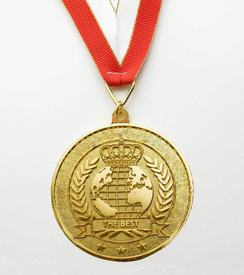 Medaglia d'oro fotografie stock libere da diritti