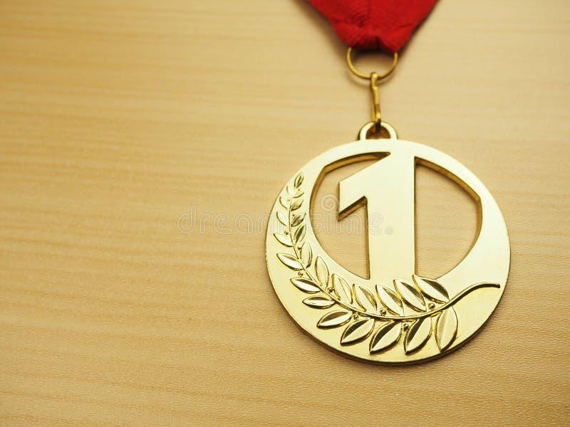 Medaglia d'oro Concetto di successo immagini stock libere da diritti