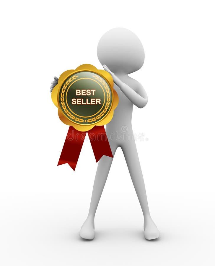 Medaglia del bestseller illustrazione vettoriale