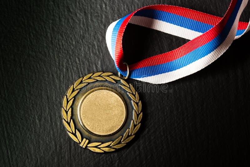 Medaglia del metallo fotografia stock libera da diritti