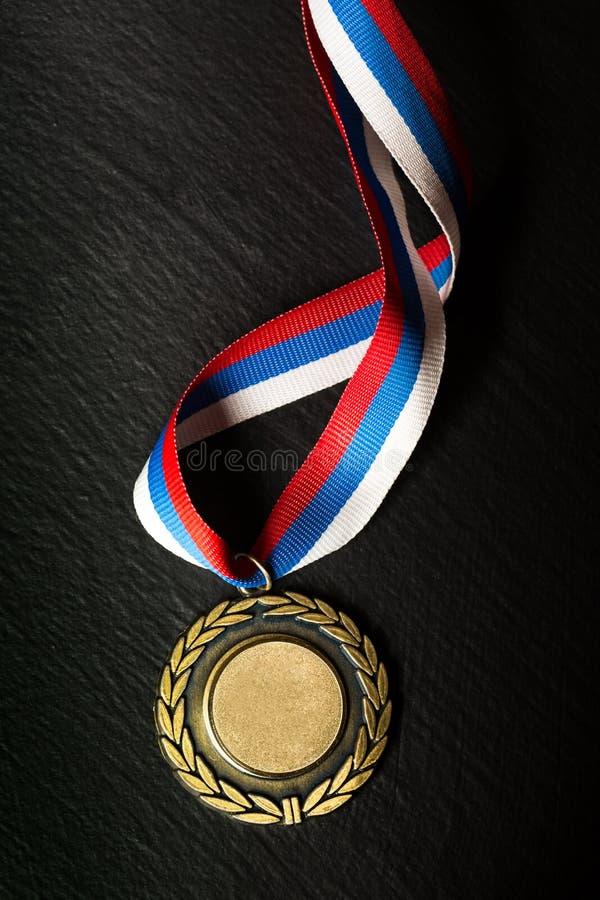 Medaglia del metallo fotografie stock libere da diritti