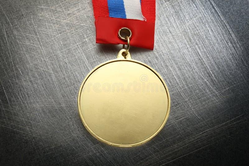 Medaglia del metallo immagini stock libere da diritti