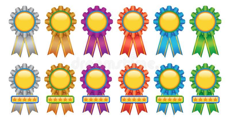 Medaglia del premio illustrazione di stock