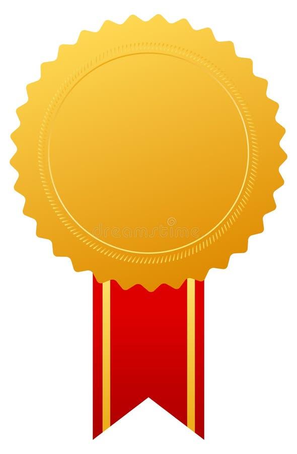 Medaglia del premio dell'oro illustrazione di stock