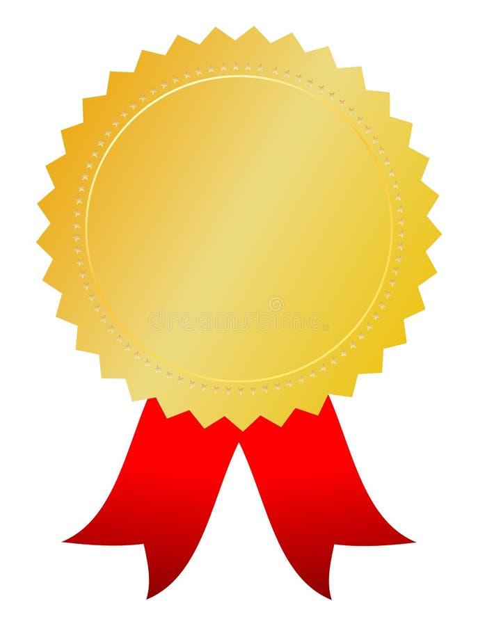 Medaglia del premio dell'oro royalty illustrazione gratis