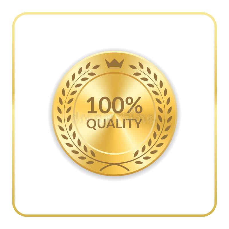 Medaglia dell'icona dell'oro del premio della guarnizione royalty illustrazione gratis