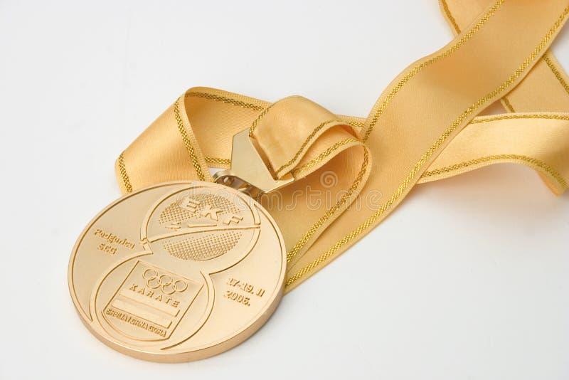 Medaglia di oro immagini stock