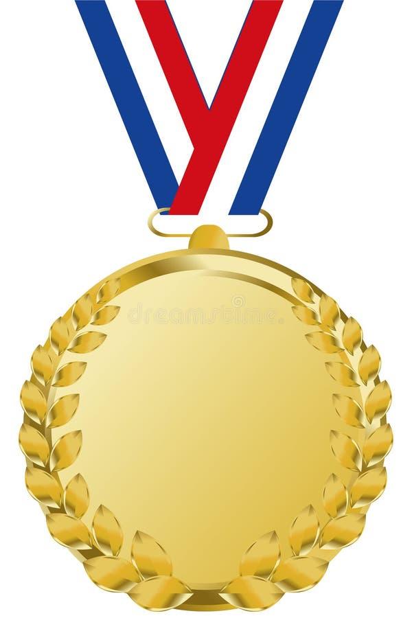 Medaglia di oro illustrazione di stock