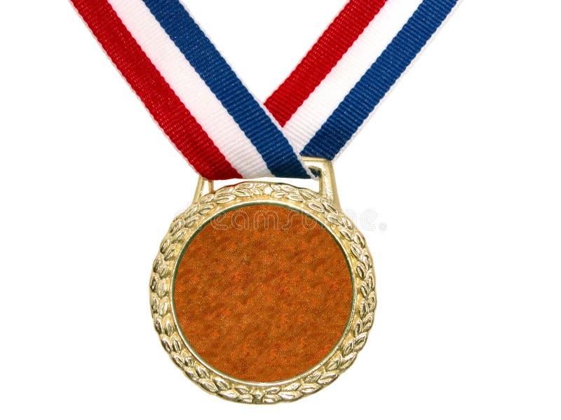 Medaglia di oro lucida (2 di 2) fotografie stock