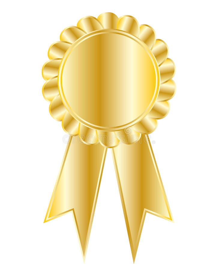 Medaglia dorata royalty illustrazione gratis