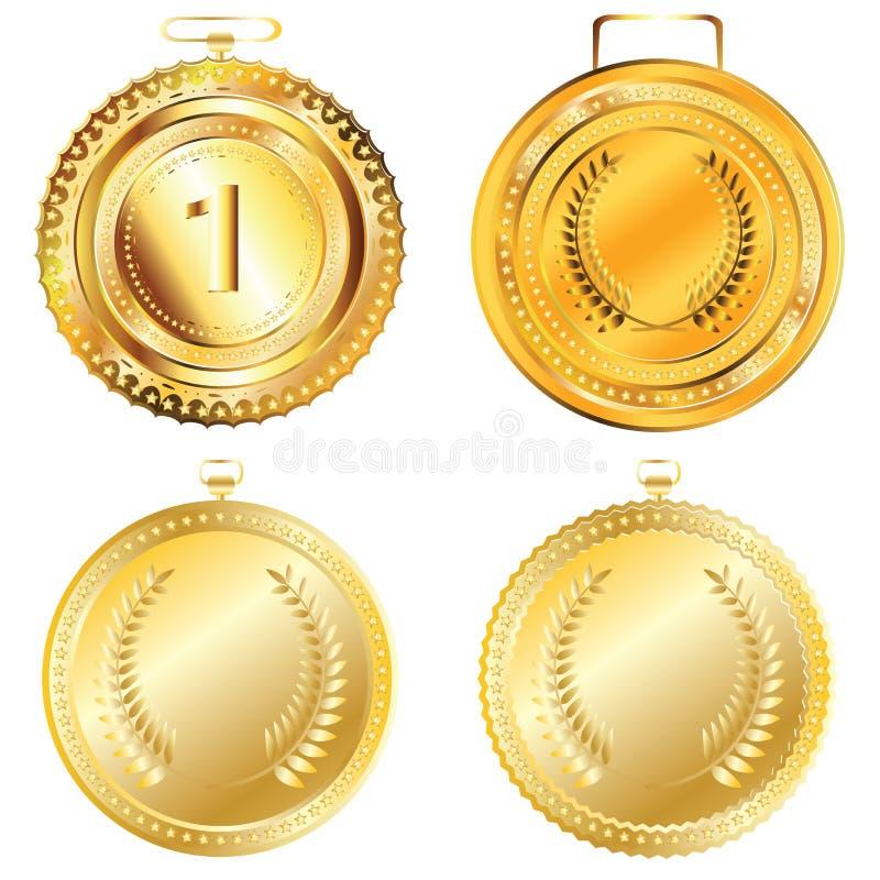 Medaglia dorata illustrazione vettoriale
