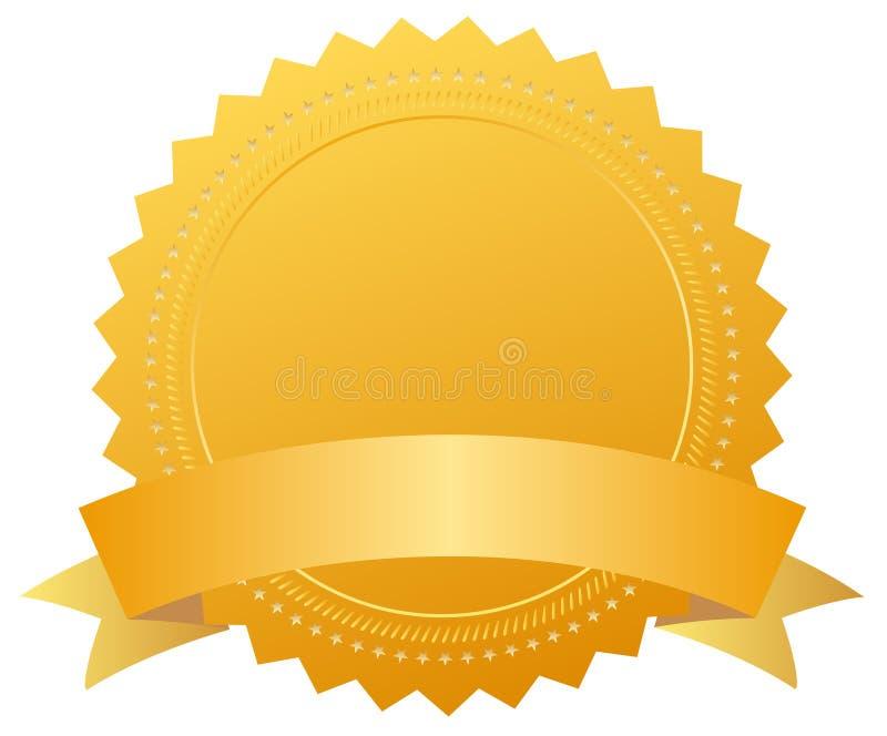 Medaglia dorata del premio in bianco illustrazione di stock