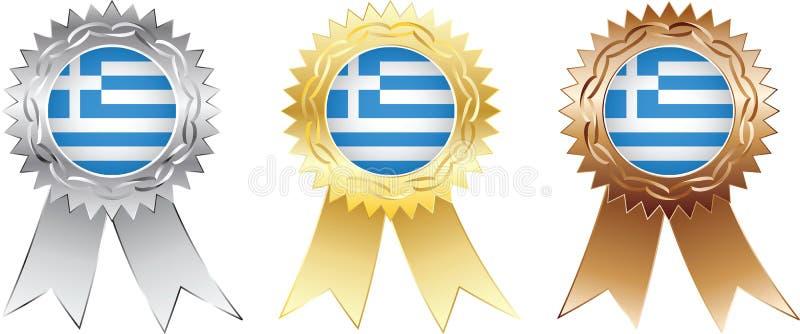Medaglie della Grecia royalty illustrazione gratis