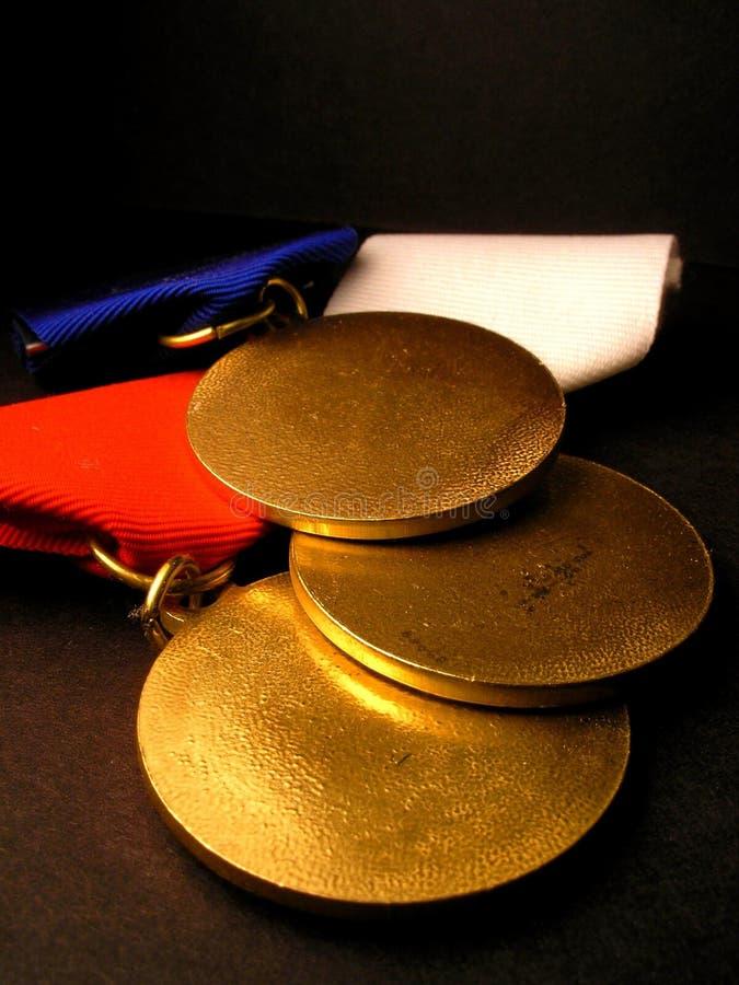 Medaglie di oro fotografie stock libere da diritti
