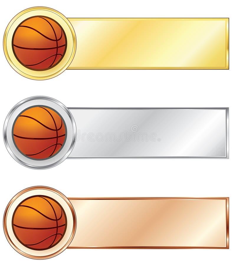 Medaglie di pallacanestro illustrazione di stock