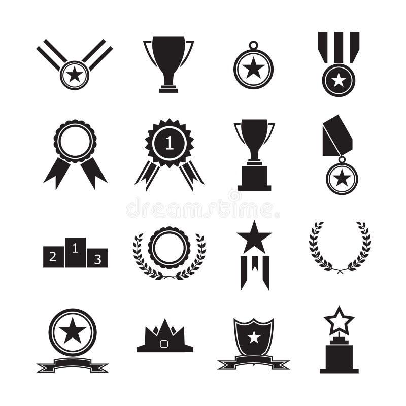 Medaglie e premio del trofeo illustrazione vettoriale