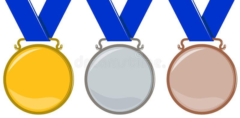 Medaglie olimpiche illustrazione di stock