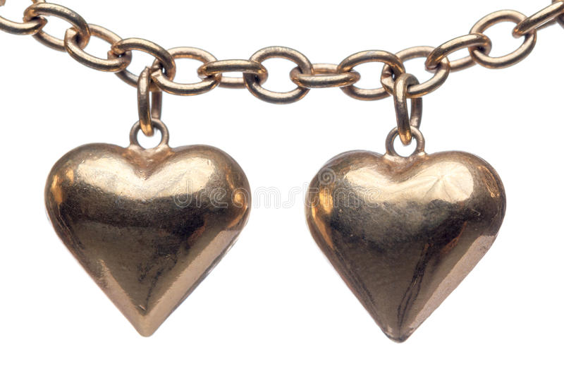 Medaglione bronzeo di forma del cuore fotografia stock libera da diritti