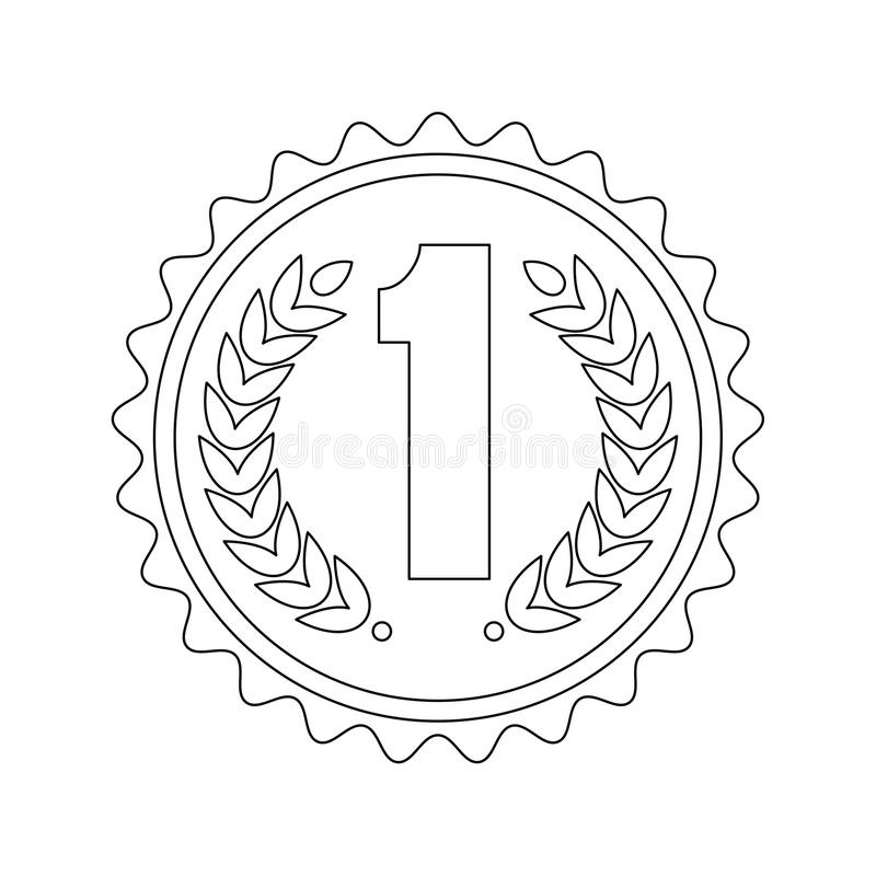 Medaille eerste pictogram royalty-vrije illustratie