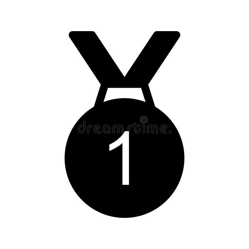 Medaille Glyph-Vektorikone vektor abbildung