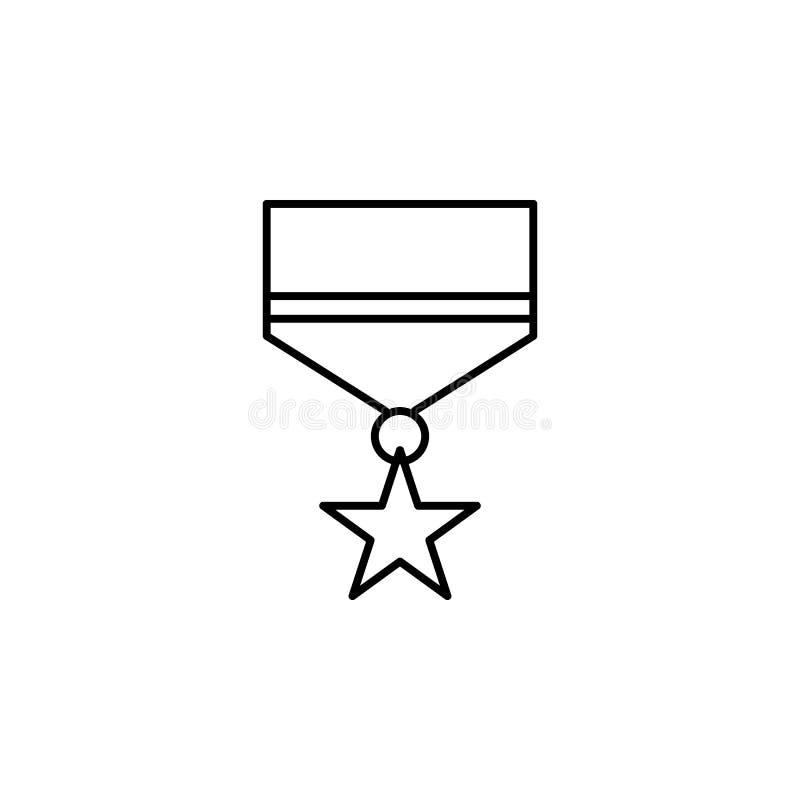 medaille, het pictogram van het doodsoverzicht gedetailleerde reeks pictogrammen van doodsillustraties Kan voor Web, embleem, mob vector illustratie