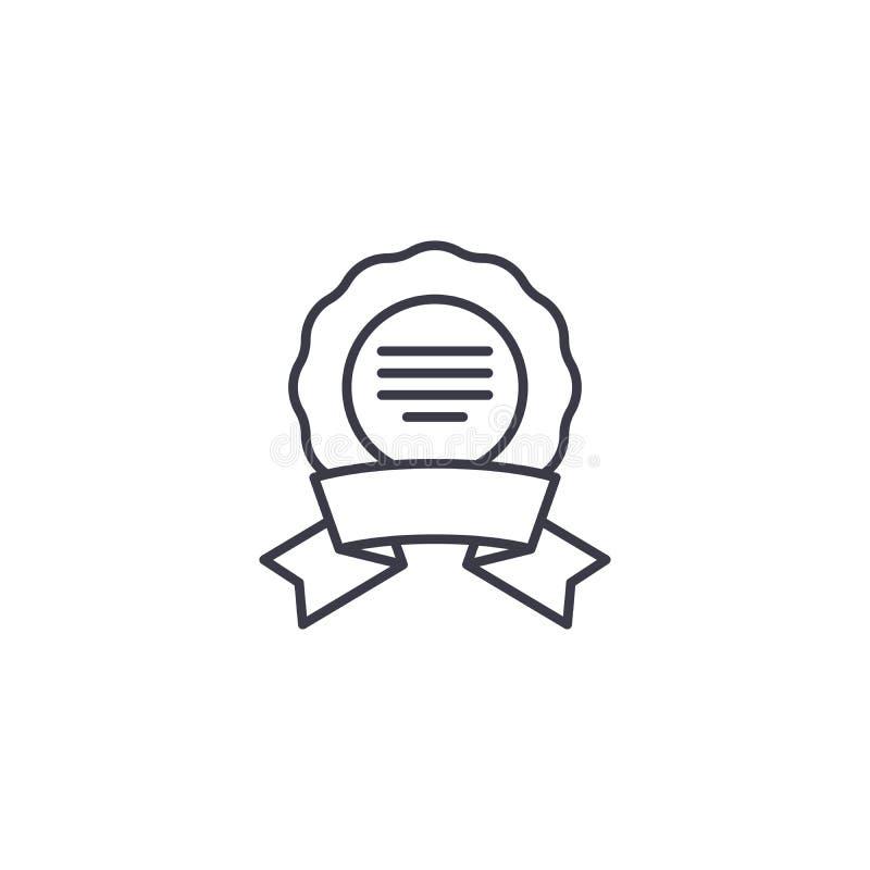 lineares ikonenkonzept des medaillenkranzes